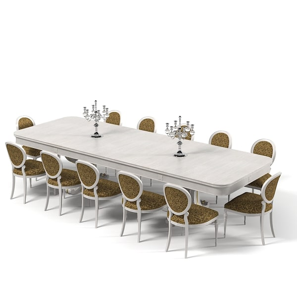 Fbx dining table for 12 person table size