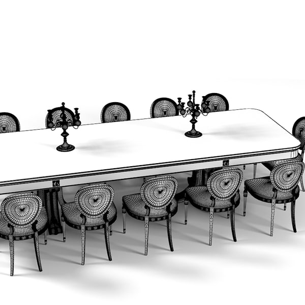 12 Person Dining Table: Fbx Dining Table