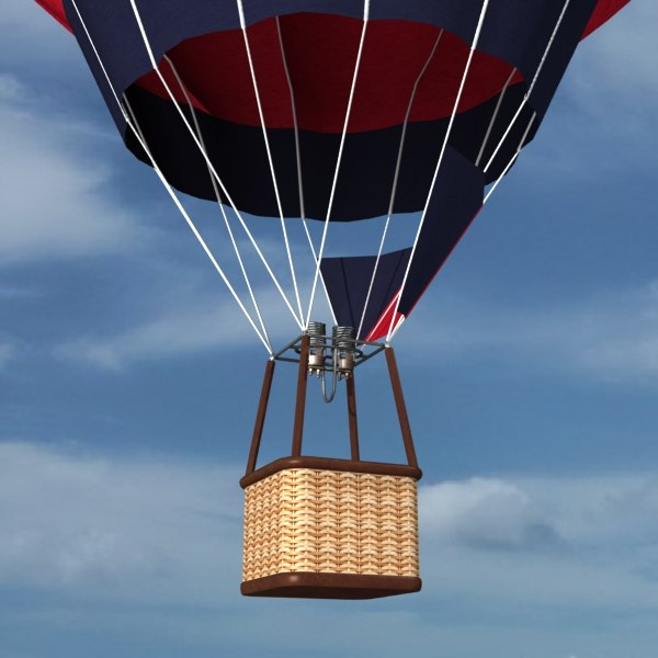 hot air balloon 3d max - Hot Air Balloon... by mostlysquare
