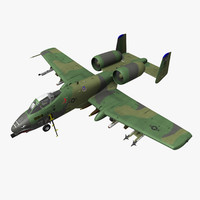 3d model fairchild republic a-10a thunderbolt