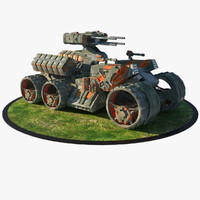 armored personal carrier 3d model
