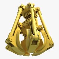 3d model excavator grab 2