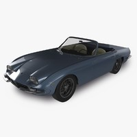 lamborghini 400gt convertible 3d model