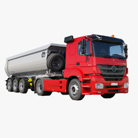 Mercedes-Benz Axor 1843 with Tipper Trailer