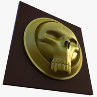 3d skull emblem