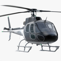 eurocopter private 3d model