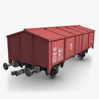 3ds max cargo train wagon