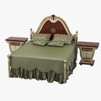bisini bedroom set 3d model
