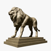 obj lion sculpture