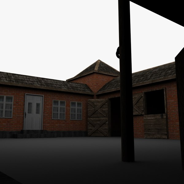 horse breeding farmhouse 3d model - Horse Breeding Farmhouse... by TheMovies3D