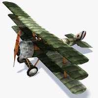 Sopwith Triplane Low Poly