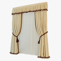 3d model classic curtain
