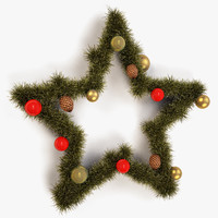 3d model christmas star decor