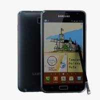 samsung galaxy note gt-n7000 3d model