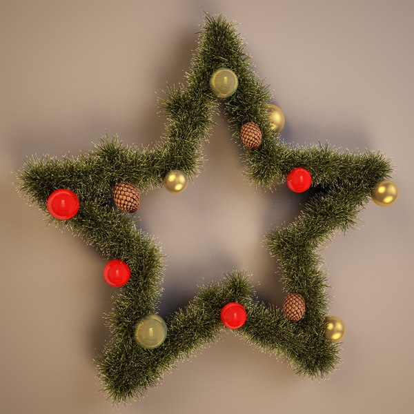 3d model christmas star decor for 3d christmas decoration