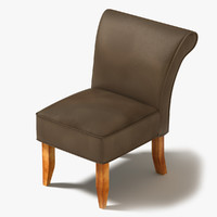 3d chair leather arm