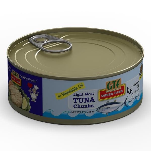 3d Tuna Fish: 3d Model Of Canned Tuna 3