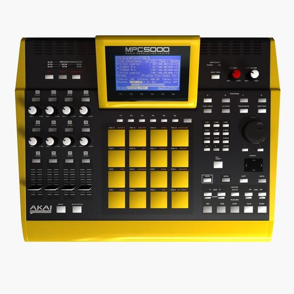... audio mixer dj mixer 3d models akai tags akai mpc 5000 mpc5000 audio