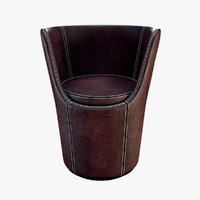 3d model porada diva chair