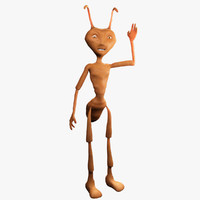3ds max cartoon ant character rigging