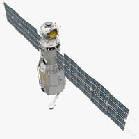 3ds space service module zvezda