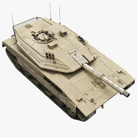 3d model of tank merkava mk4