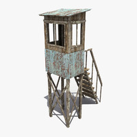 guard tower 3d ma