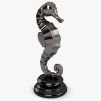 3d sea horse sculpture model