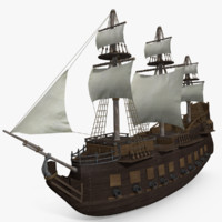 3d 3ds old medieval ship