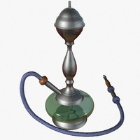 3d model waterpipe hookah