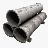 3d model of concrete pipes