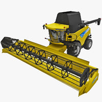 3d model new holland cr9000 twin