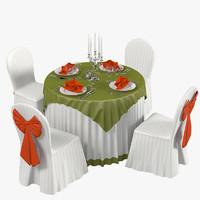 3d restaurant wedding table