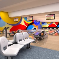 bowling club interior 3d max