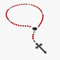 catholic rosary 3d model