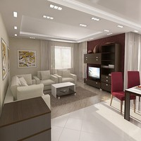 interior furniture 3d obj