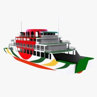 double-ended ferry 3D models