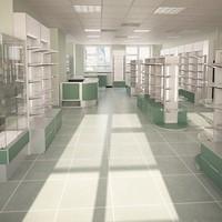max v-ray shop scene