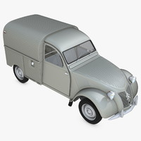 citroën 2cv azu vehicles 3d model