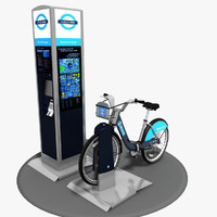 barclays cycle hire 3d model