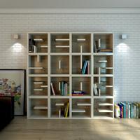 Bookshelf Scene