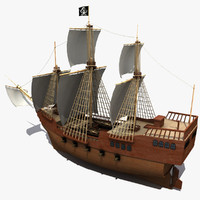 ship pirate 3d obj