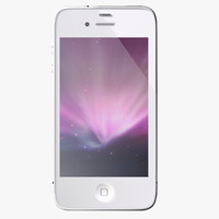 3d model iphone 4 s white