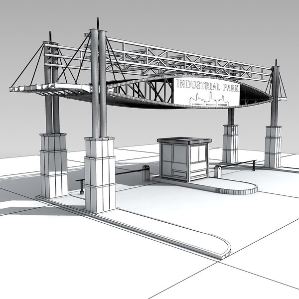 industrial gateway 3d model - Industrial Gateway... by shank3d