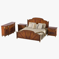 armando rho bedroom set 3d model