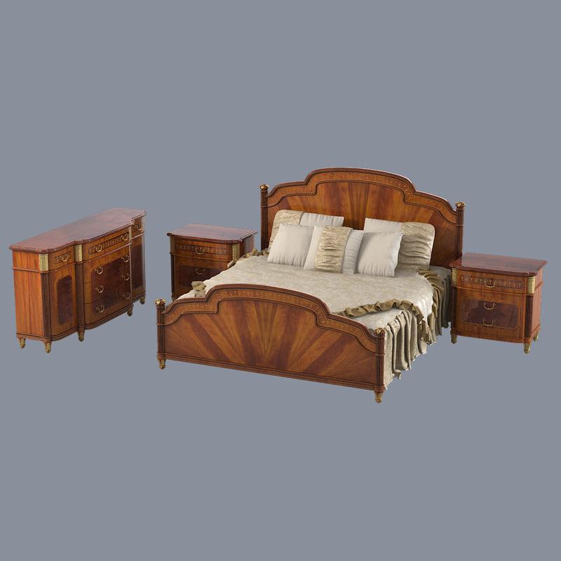 b Armando Rho  A 653 654 655 Bedroom set empire marquetry classic luxury baroque sideboard nightstand bed double 0001.jpg