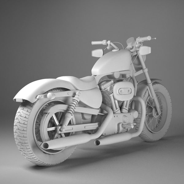 Harley Turbo Review: 3d Model Harley Davidson Sportster Forty Eight