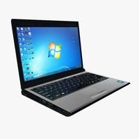 3d laptop computer model
