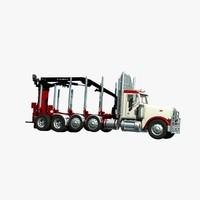 367 truck logger 3d lwo