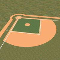 maya baseball field diamond bases